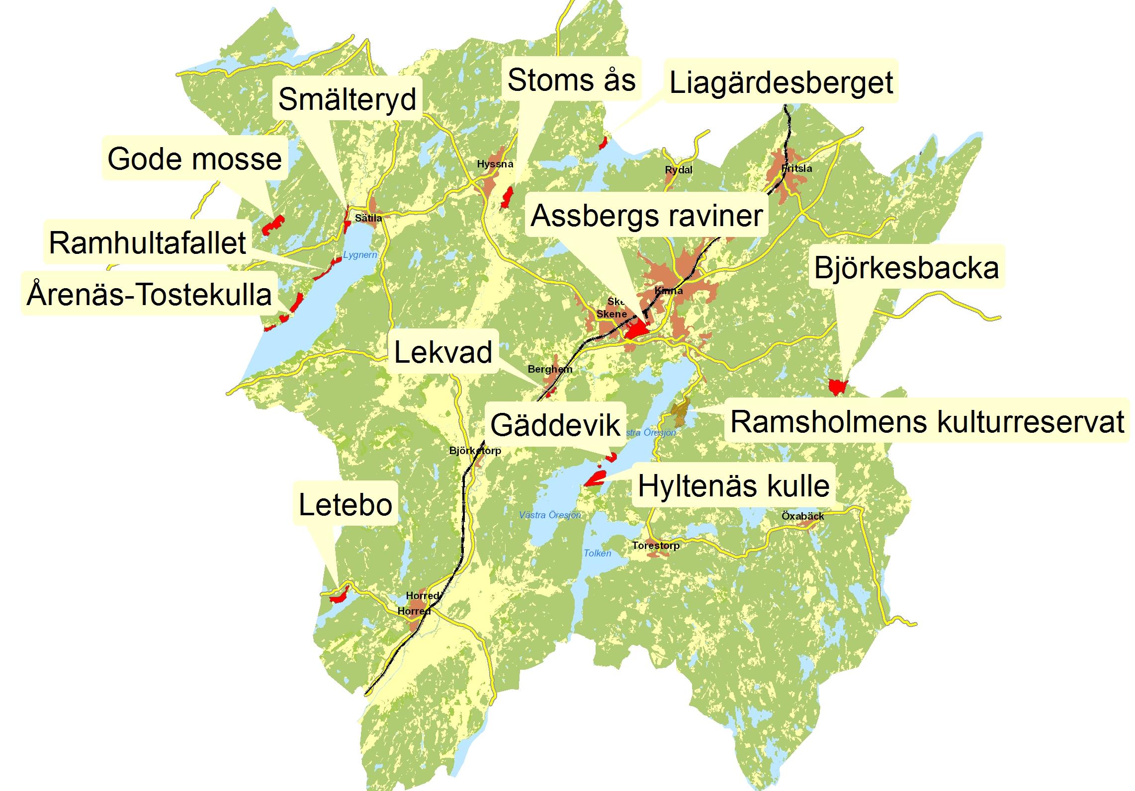 karta över marks kommun